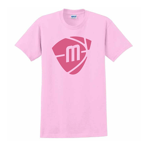 Manchester Magic & Mystics Light Pink Logo T-shirt - Pink print