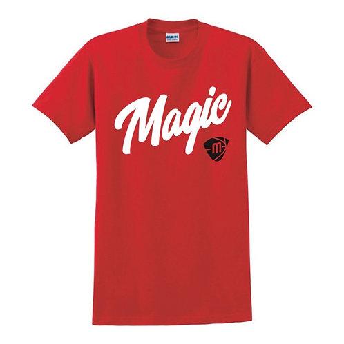 Manchester Magic Script & Logo Red T-shirt