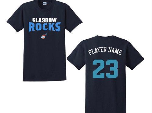 Glasgow Rocks Juniors T-shirt Design 4 - Navy Blue
