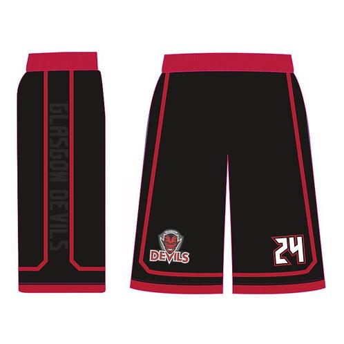 Glasgow Devils Black Shorts