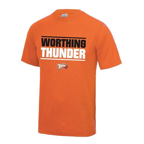 Worthing Thunder Sports Polyester T-shirt - Orange
