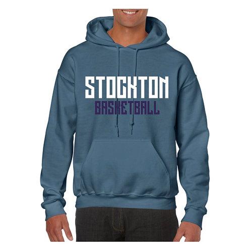 Stockton Basketball Indigo Blue Hoody design 2