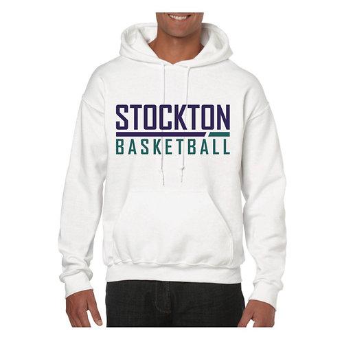 Stockton Basketball White Hoody design 5