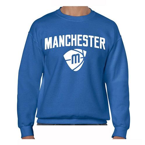 Manchester Magic & Mystics Text and Logo Blue Crew