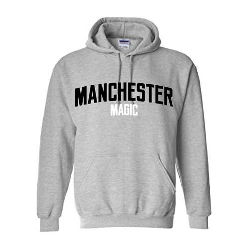 Manchester Magic Sport Grey Hoody - Black and White print