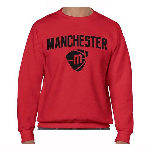 Manchester Magic & Mystics Text and Logo Red Crew