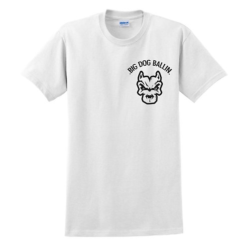 Big Dog Ballin White small logo T-shirt