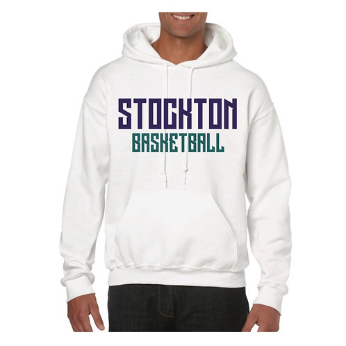 Stockton Basketball White Hoody design 2