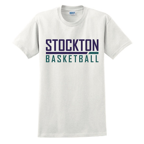 Stockton Basketball - White T-shirt Design 5