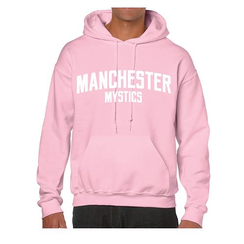 Manchester Mystics Light Pink Hoody - White print