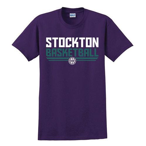 Stockton Basketball - Purple T-shirt Design 3