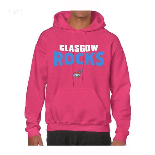 Glasgow Rocks Juniors Hoody design 4 - Pink