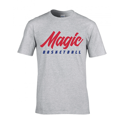 Manchester Magic Basketball Sport Grey T-shirt - Red & Royal Blue