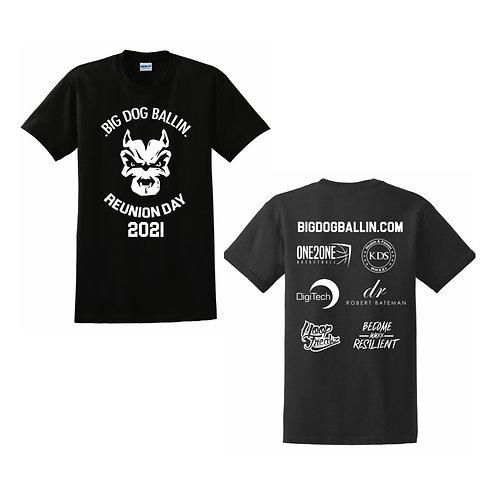 Dog Ballin Black Reunion Day T-shirt