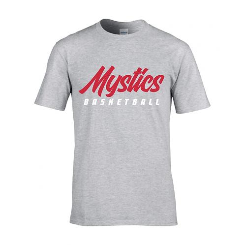 Manchester Mystics Basketball Sport Grey T-shirt - Red & White