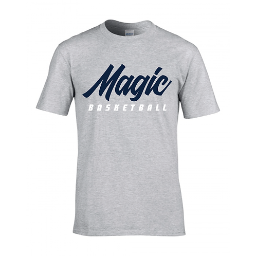 Manchester Magic Basketball Sport Grey T-shirt - Navy & White