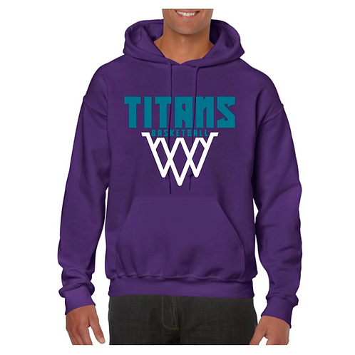 Ely Titans Purple Hoody Design 2