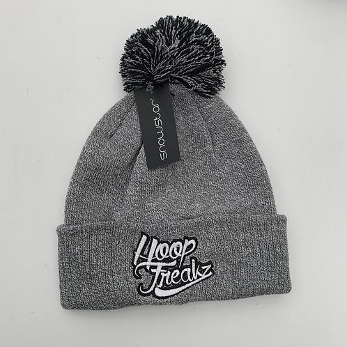 Hoop Freakz Brand Bobble Hat - Heather Grey