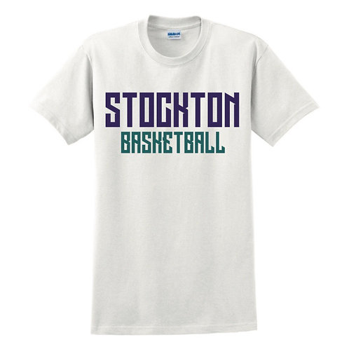 Stockton Basketball - White T-shirt Design 2