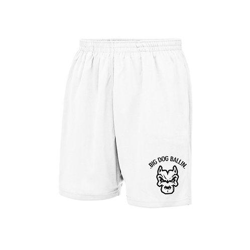 Big Dog Ballin White Shorts
