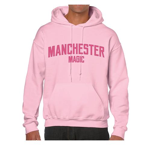 Manchester Magic Light Pink Hoody - Pink print