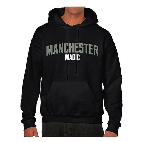 Manchester Magic Black Hoody - Grey & White