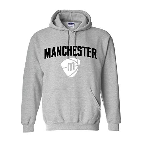 Manchester Magic & Mystics Text and Logo Sport Grey Hoody - Black & White
