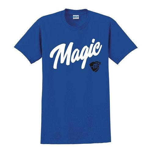 Manchester Magic Script & Logo Blue T-shirt