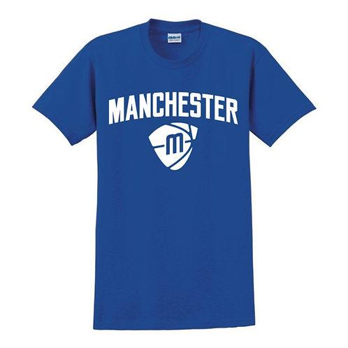 Manchester Magic & Mystics Text and Logo Blue T-shirt
