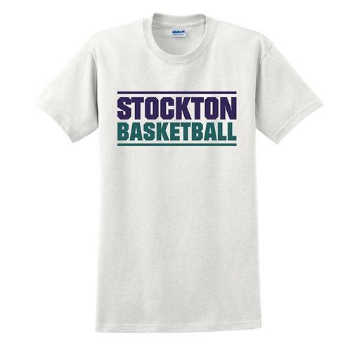 Stockton Basketball - White T-shirt Design 6