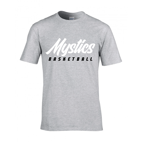Manchester Mystics Basketball Sport Grey T-shirt - White & Black