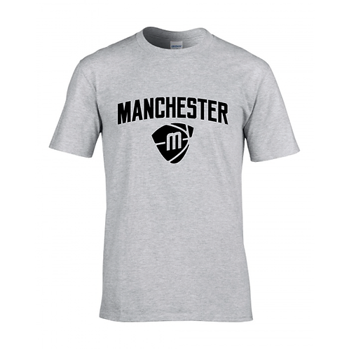 Manchester Magic & Mystics Text and Logo Sport Grey T-shirt - Black