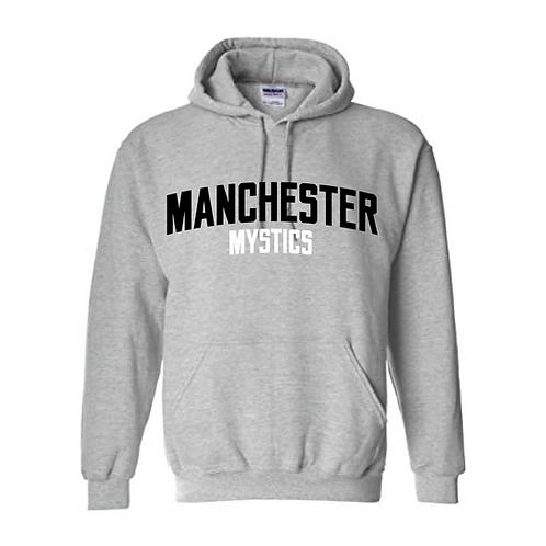 Manchester Mystics Sport Grey Hoody - Black & Whiteprint