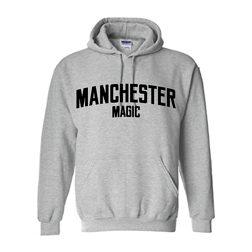 Manchester Magic Sport Grey Hoody - Black print