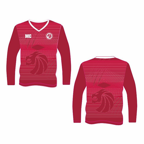 Red Long Sleeve Shooting Shirt