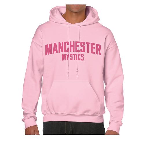 Manchester Mystics Light Pink Hoody - Pink print