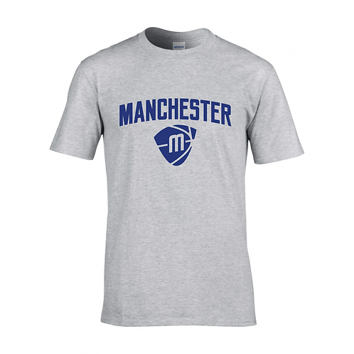 Manchester Magic & Mystics Text and Logo Sport Grey T-shirt -Royal Blue