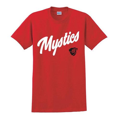 Manchester Mystics Script & Logo Red T-shirt