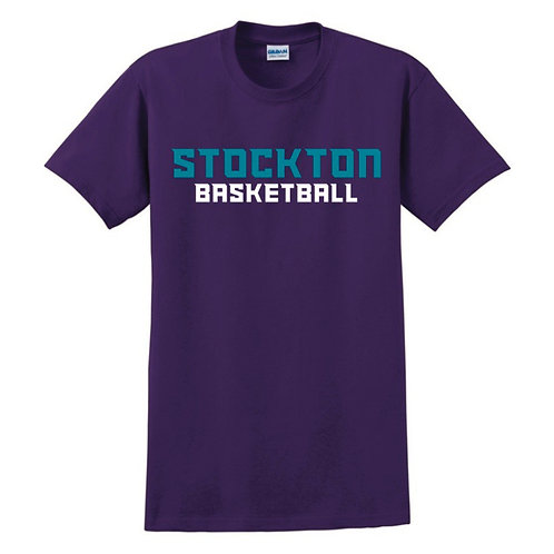 Stockton Basketball - Purple T-shirt Design 1