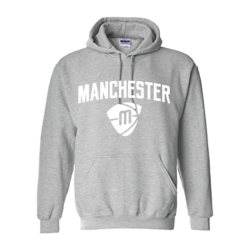 Manchester Magic & Mystics Text and Logo Sport Grey Hoody - White