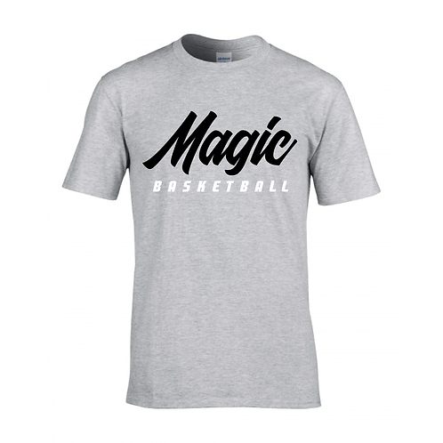 Manchester Magic Basketball Sport Grey T-shirt - Black & White