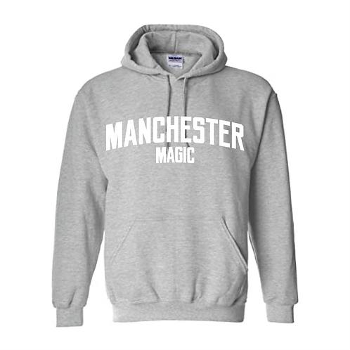 Manchester Magic Sport Grey Hoody - White print
