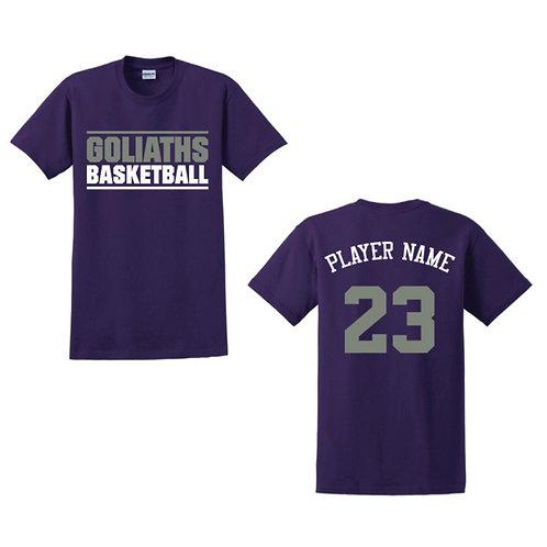 Gosforth Goliaths Purple T-shirt Design 1