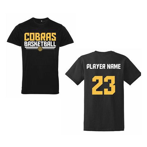 Caerphilly Cobras Black Tri-dri polyester T-shirt Design 2