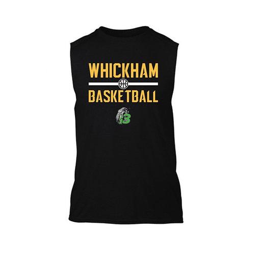 Whickham Sleeveless Black T-shirt
