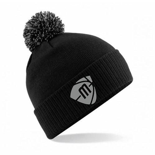 Manchester Magic & Mystics Black and Grey Bobble Hat