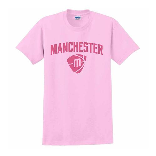 Manchester Magic & Mystics Text and Logo Light Pink T-shirt 1
