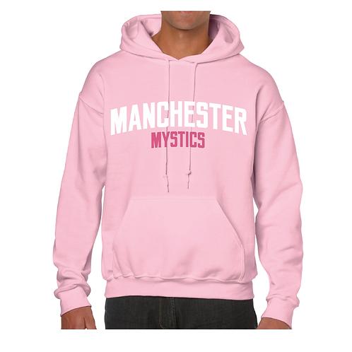 Manchester Mystics Light Pink Hoody - White & Pink print