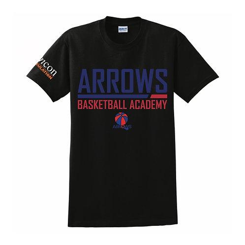 Derbyshire Arrows Black T-shirt Design 2