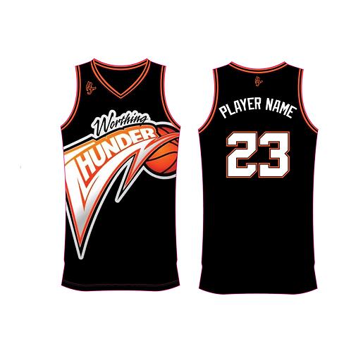 Worthing Thunder Training Jersey Design 4 - Black